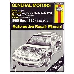 general motors buick regal chevrolet lumina and monte carlo fwd rh amazon com 1999 Grand Prix 1995 pontiac grand prix owner's manual