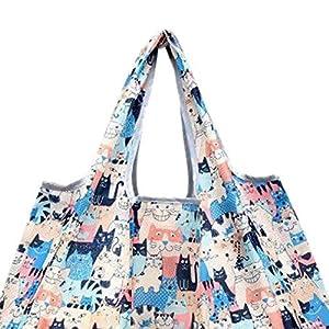 Idomeo Portable Foldable Cartoon Pattern Square Environmentally Friendly Shopping Bag Reusable Grocery Bags