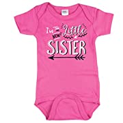 Texas Tees I'm The New Little Sister Bodysuit, Hipster Design, Includes Pink 0-3 mo