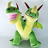 Build A Bear Barf and Belch Green Two Headed Dragon - Hurl and Burp Sound - How to Train Your Dragon - 17 inch