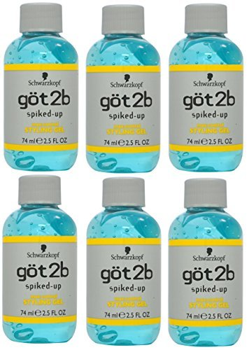 (Got 2b Spiked-up Max-control Styling Gel, 2.5 Oz (Pack of 6))