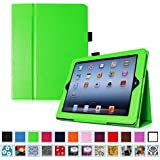 Fintie iPad 2/3/4 Case - Slim Fit Folio Case with Smart Cover Auto Sleep / Wake Feature for Apple iPad 2, the new iPad 3 & iPad 4th Generation with Retina Display, Green