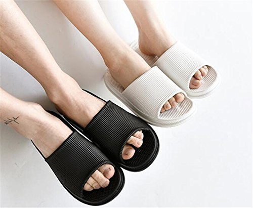 TELLW Slippers Female for Summer Anti Bottom Indoor Male Cool Thick women green Slippers Slip Home Bathroom B4qw5rnB