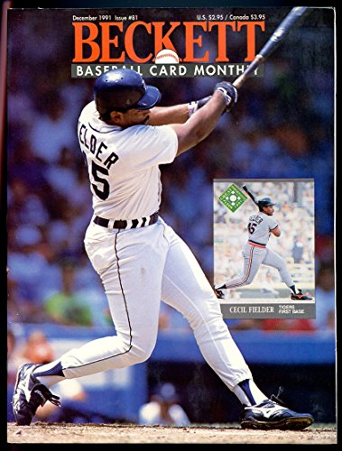 - Beckett Baseball Card Monthly #81 December 1991 Cecil Fielder Tigers VERY GOOD