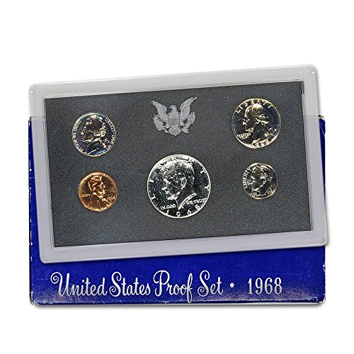 1968 S US Proof Set Superb Gem - Half Coin Penny