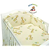 "BlueberryShop BABY TODDLER JUNIOR BED COT BUMPER 35cm x 150cm (13.8"" x 59"") ( 0-2Yrs ) ( 150 x 35 cm ) Cream Giraffe"