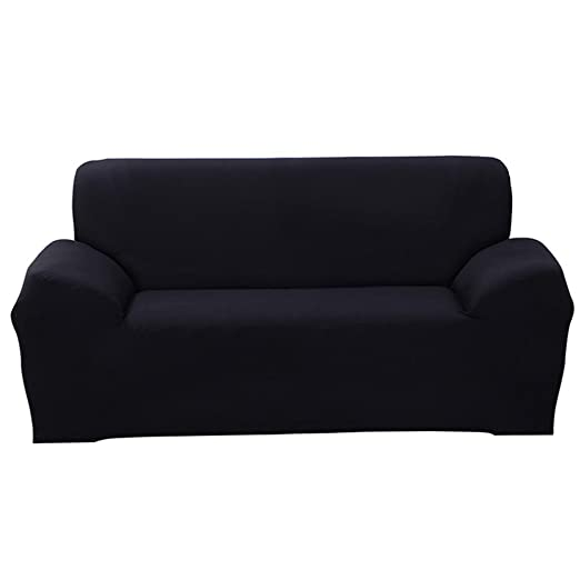 ParaCity elástico funda para silla 3 plazas tela funda protectora pantalla sillón funda protectora, negro, 3 seater:185-230cm