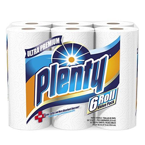 Plenty Ultra Premium Full Sheet Paper Towels, White, 24 Total Rolls>