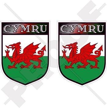 CYMRU Wales Schild Großbritannien Walisisch Vinyl Sticker Aufkleber 75mm x2