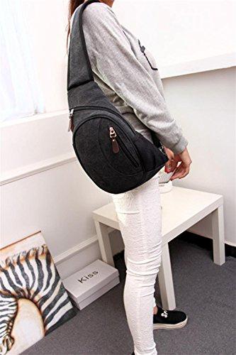 pengweiBolso del pecho de la lona empaqueta el bolso al aire libre del paquete del recorrido del ocio del ocio , 3 3