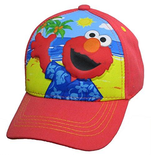 Elmo Cap - Sesame Street Elmo on The beach Red Baseball Cap – Boys' Size 4-14