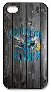 TYH - LZHCASE Personalized Protective Case for ipod Touch4 - NBA Sports New Orleans Pelicans Logo Wood Look ending phone case