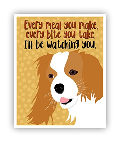 - Cavalier King Charles Poster Funny Dog Art 11 x 14 Print