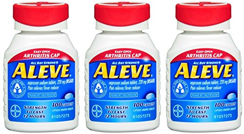 Aleve Tablets with Easy Open Arthritis Cap, 220 mg, 100 Count (Pack of 3) by Aleve