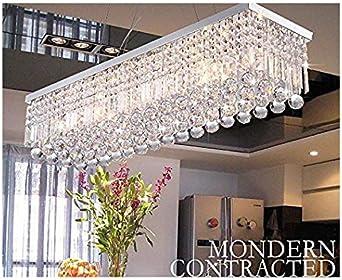 Bar Stairway Club A1A9 Modern Crystal Chandelier Lights Luxury Rectangle Raindrop Elegant Ceiling Light Chrome Flush Mount LED Pendant Lighting Fixture for Livingroom Lounge Foyer Dining Room