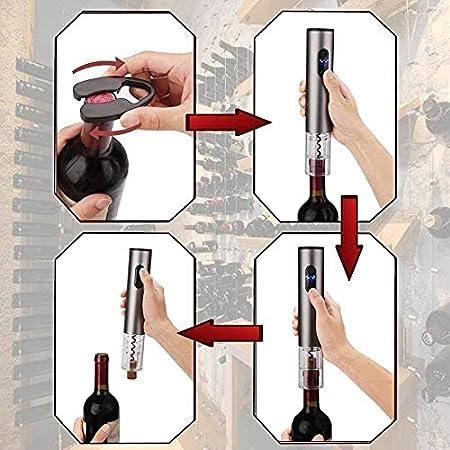 Sacacorchos eléctrico recargable por USB