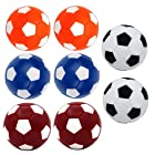 Table Soccer Foosballs Replacement Balls, Qtimal Mini Colorful 36mm Official Tabletop Game Ball – Set of 8