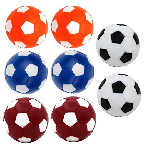 Qtimal Table Soccer Foosballs Replacement Balls, Mini Colorful 36mm Official Tabletop Game Ball – Set of 8