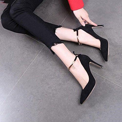 Pumps YIXINY 5 Stilett Gemütlich Rot Heels EU37 UK4 Schwarz Freizeit PU 5 Frühling größe High Damenschuhe Hochzeitsschuhe Farbe CN37 Schwarz Spitze rrpwHqd