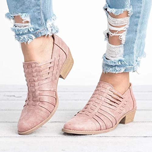 À Automne Talon Femme Chelsea Ankle En overdose Boots Bottines Bottes Soldes Hiver rose Chaussures 2 Sexy Western Cuir 0xY4nvn