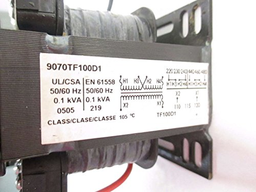 NEW SQUARE D 9070TF100D1 480V-AC 120V-AC 100VA TRANSFORMER D503552 by Square D (Image #4)