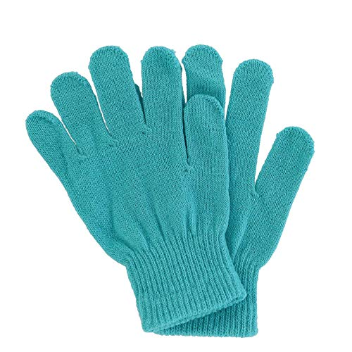 Grand Sierra Girl's Basic Knit Stretch Gloves, Blue ()
