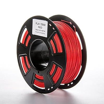 Red PLA Filament for 3D Printer | Joyprinting PLA Filament | 1 kg Spool, 1.75 mm, Dimensional Accuracy +/- 0.03 mm