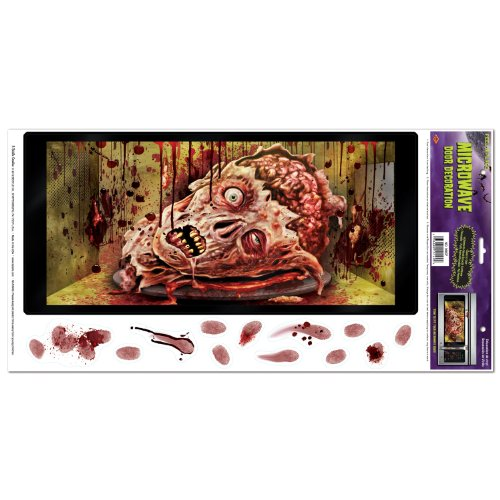 Beistle Halloween Microwave Door Decoration, 12-Inch by 24-Inch -