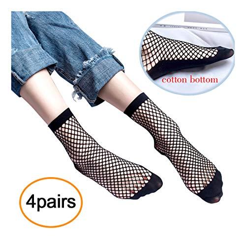 Women's Fishnets Ankle Socks,Ladies Ultra Thin Microfiber Stretchy Sheer Fishnet Sock For Women (s-small)