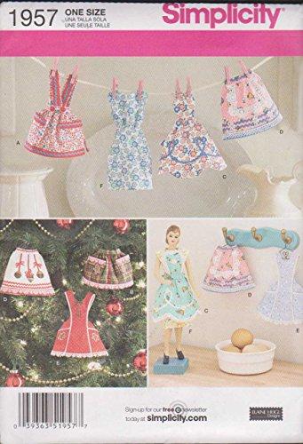 (Simplicity Elaine Heigl Designs Pattern 1957 Apron and Dress Ornaments)