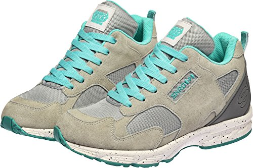 SNRD Lace Insole Casual Elevator Women Mint Up Sneakers Gray 711 Taller ZIZqrf