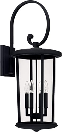 Capital Lighting 926741BK Howell 31.5 Inch Outdoor Wall Lantern Transitional Approved