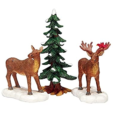 Lemax Village Collection Mr And Mrs Moose Set of 3 #32725