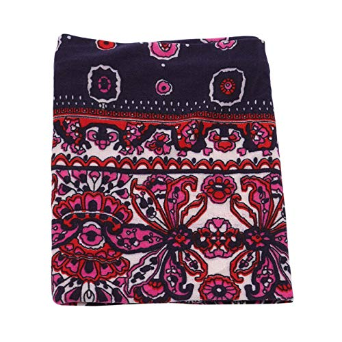Ethnic Wind Hair Band European And American Retro Flower Elastic New Hair Bands (Color - Purple) ()
