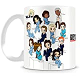 Caneca Greys Anatomy Personagens Cartoon