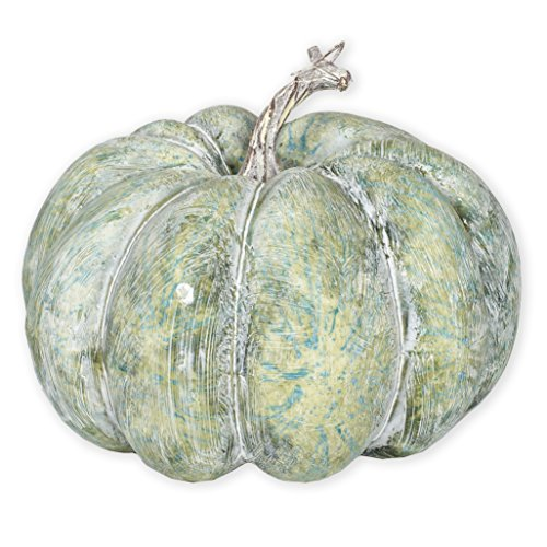Aqua Green Distressed 6 x 7.5 Cork Like Harvest Table Top Pumpkin (Decorating A Turkey)