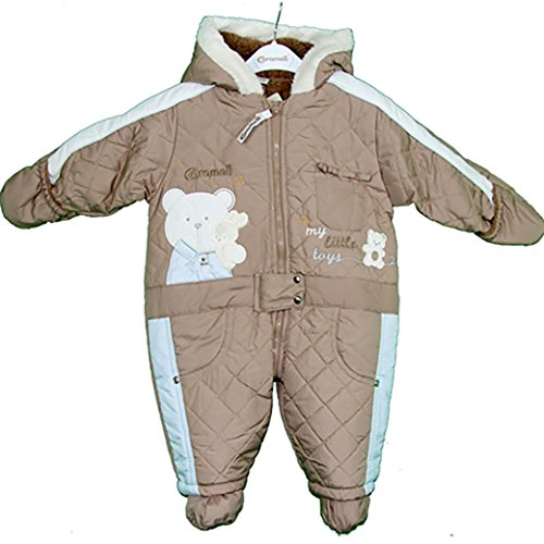 Caramell Cute Baby Bear ONE Piece Eskimo Suit - Quilted (9 Months, -