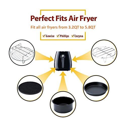 Deep Fryers Universal Fryer Accessories Including Barrel,Baking Pan,Grill,Pot Pad, Pot Rack Mat, Bellagione