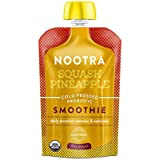 Nootra Probiotics - USDA Organic Cold Pressed Vegan Probiotic Smoothies Packed with Non GMO Fruit and Veggies Case of 12 - 6oz Squeeze Pouches for On-the-Go Drinking (Squash Pineapple)