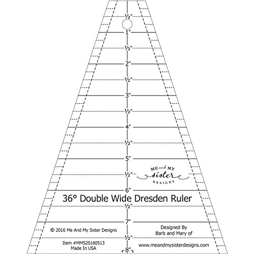 Me and My Sister Designs Me and My Sister Double Wide Dresden Ruler