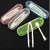 Contact Lens Inserter Remover Tweezers & Case Kit