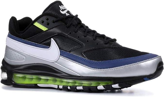 | Nike Men's Air Max 97BW Black Metallic Silver