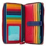 Visconti Spectrum 33 Ladies Large Soft Leather Checkbook Wallet Purse (Black)