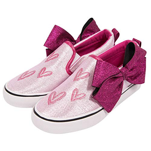 JoJo Siwa Nickelodeon Girls Sneakers - Officially Licensed Nickelodeon Girls Low Top Sneakers (Red Hearts, Youth Shoe Size 3)