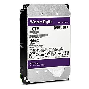 """WD Purple 10TB Surveillance Hard Drive - 7200 RPM Class, SATA 6 Gb/s, 256 MB Cache, 3.5"""" - WD101PURZ"""