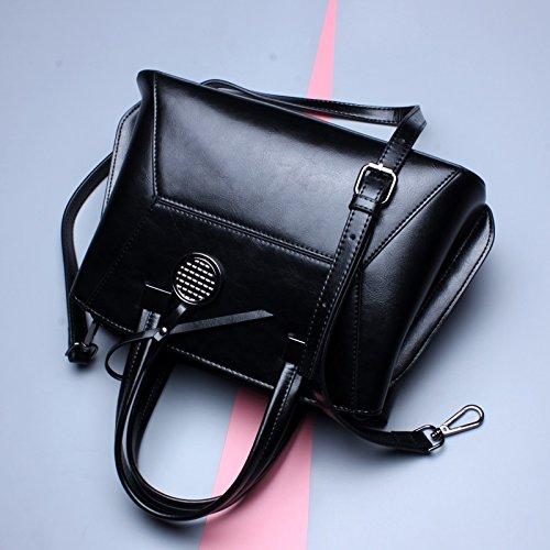 Cera M Size Bolsa Brown 2018 Mujer De Aceite Bolso Shishanyun Black Moda Diseño Cuero color Con Para 6RZzxqw8U