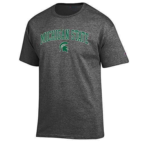 Elite Fan Shop Michigan State Spartans Tshirt Varsity Charcoal - L - Michigan State Spartans Apparel