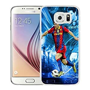 Newest and Fashionable Case Lionel Messi 12 White Phone Case for Samsung Galaxy S6