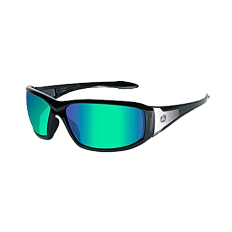 44e1795e7a45 John Deere Wiley X Avert-X Safety Sunglasses Green Black - - Amazon.com