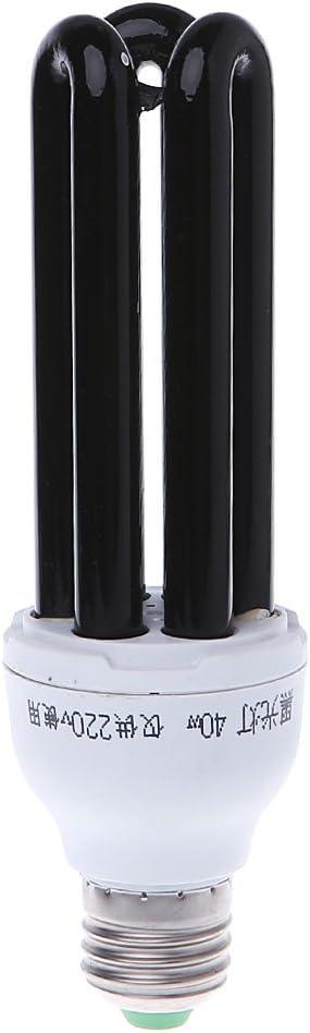 E27 15 20 30 40w Uv Ultravioleta Fluorescente Luz Negra Cfl Lámpara 220v Amazon Es Iluminación
